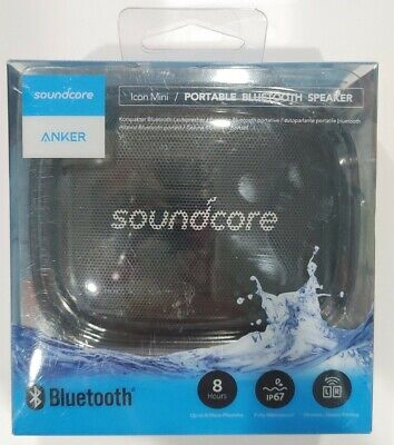AU35.30 • Buy Anker Soundcore Icon Mini Portable Waterproof Bluetooth Speaker Black New