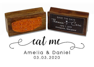 £13.99 • Buy Printtoo Personalized Wood Mounted Eat Me Rubber Stamp Wedding Favor-WF-PSW500A