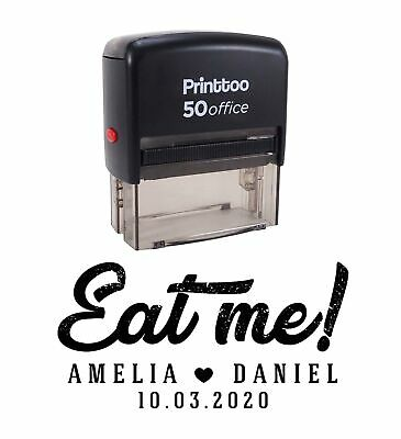 £13.99 • Buy Printtoo Personalized Black Self Inking Eat Me Wedding Favor Stamp CustomPHS600A