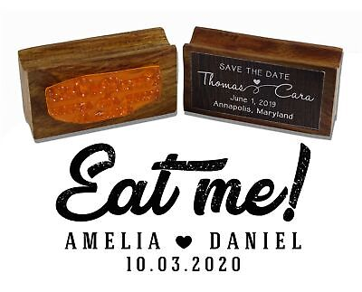 £14.99 • Buy Printtoo Personalized Wood Mounted Eat Me Rubber Stamp Wedding Favor-WF-PSW600A