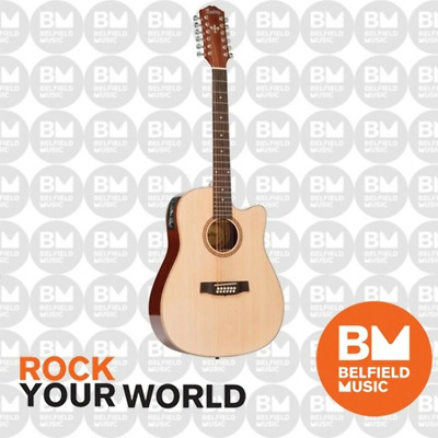 AU189 • Buy Monterey MW-315 Acoustic Guitar 12-String Dreadnought Solid Top Cutaway & Pickup