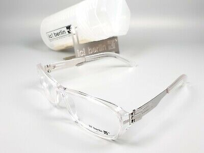 Ic! Berlin Glasses Mod. Valentina WITH Chrome Changeable Temples Clear Frame • 285.21£