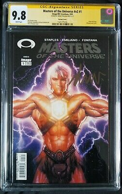 $99.99 • Buy Masters Of The Universe #1 CGC 9.8 SS Struzan Foil Variant He-Man Skeletor Rare