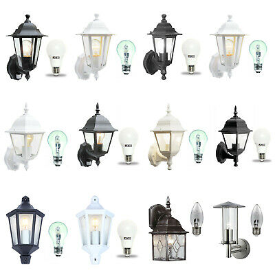 Traditional Garden Wall Lights / Outdoor Lanterns. Motion Sensor / LED Options • 15.47£