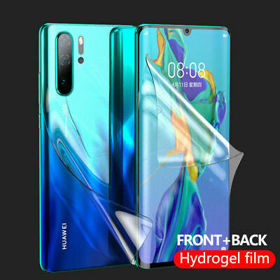 HYDROGEL Front + Back Screen Protector For Huawei P20 P30 P40 Pro Mate 30 Lite  • 2.99£