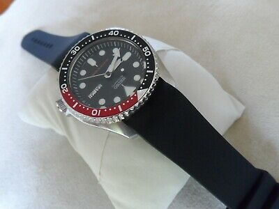 Black Rubber Dive Watch Strap To Fit Seiko SKX Diver Watches 22 Mm Curved Ends • 13.95£