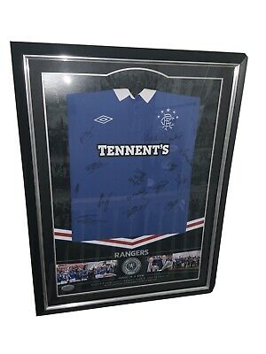 Glasgow Rangers Signed Shirt 3 In A Row 2010/11 Bought From RFC • 479£