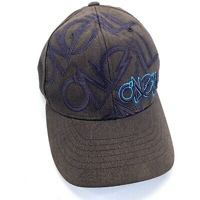 $13.47 • Buy Oneill Surfing Flexfit Fitted Cap Hat Black With Blue Embroidered Size S-M