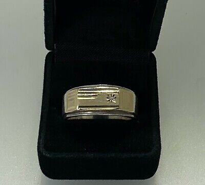 AU395 • Buy 9KT 9K 9CT Gold Coated 925 Silver Ring 0.01CT Diamond Size T-U