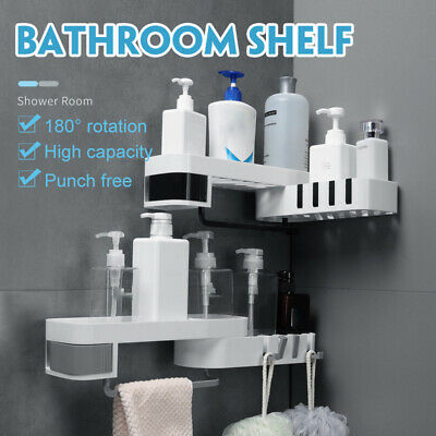 AU20.99 • Buy 2 Layer Corner Shower Kitchen Bathroom Caddy Organiser Shelf Storage Rack AU