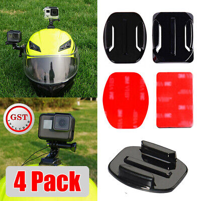 AU5.96 • Buy 4pcs Flat Curved Adhesive Mount Helmet Accessories For Gopro Hero 8/7/2 /3+/6/5