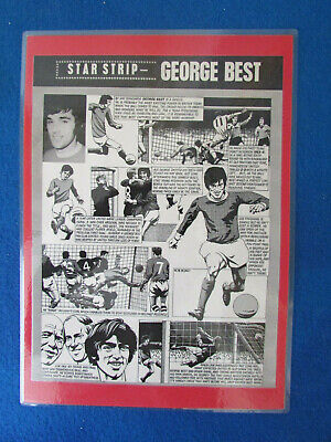 £9.99 • Buy George Best - Manchester United - 1968 - Mounted Laminated A4 - Star Strip