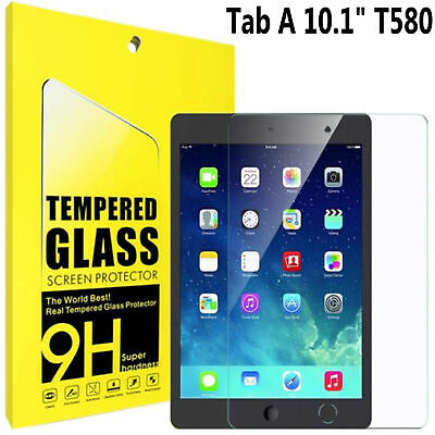 TEMPERED GLASS Screen Protector For Samsung Galaxy Tab A6 10.1  SM-T585 SM-T580 • 4.49£