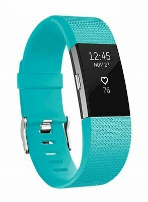 $ CDN64.86 • Buy Fitbit Charge 2 Fitness Wristband Activity Tracker Turquoise - W/ New Large Band