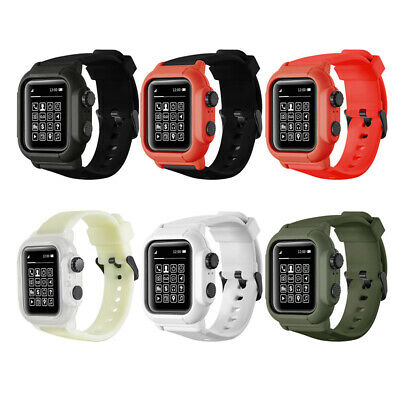 $ CDN26.44 • Buy For Apple Watch Series 6 5 4 3 2 Waterproof Tough Armor Protect Band Strap Cover