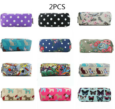 £5.99 • Buy 2PCS Owl Butterfly Floral Bird Pencil Case Cosmetic Make Up Bag Storage Pouch