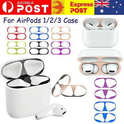 AU4.98 • Buy Iron Shavings Metal Film Sticker Dust Guard Protective Cover For AirPods 1/2/3