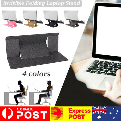 AU14.35 • Buy Invisible Folding Laptop Stand Thin Light Computer Mount For 13/15.6'' Laptop AU
