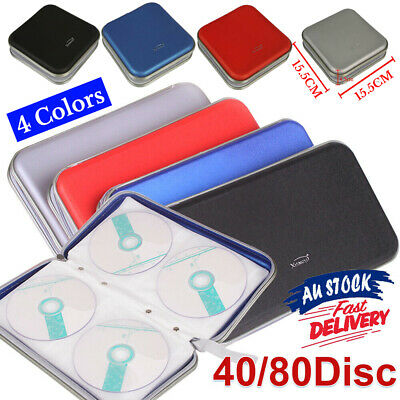 AU13.59 • Buy 40/80 Wallet Sleeve Holder Disc In Car Ideal For Storage Carry Case DVD CD