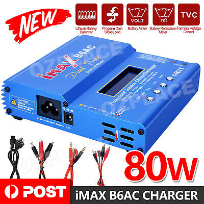 AU43.95 • Buy IMax B6AC 80W RC Lipo NiMh Digital Battery Balance Charger Discharger Control