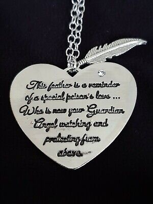 £5.99 • Buy Baby Memorial Loss/Miscarriage/grief 18  Silver Plated Necklace Guardian Angel
