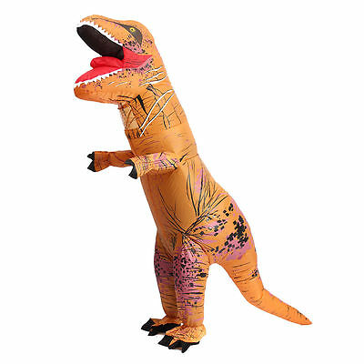 £26.99 • Buy InflatableT-Rex Jumpsuit Adult Blow Up Funny Costume Jurassic (Brown)