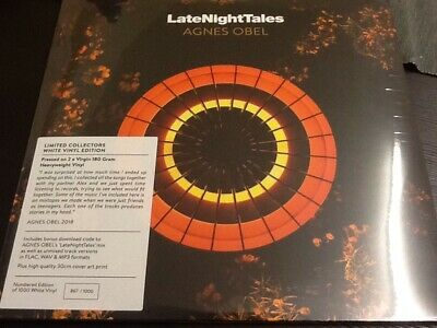 Late Night Tales - Agnes Obel - White Vinyl - Limited New/sealed • 27.99£