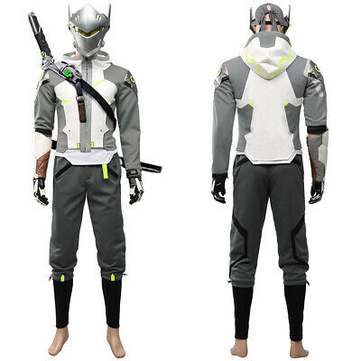 AU144.82 • Buy Overwatch 2 OW Shimada Genji Cosplay Hoodie Trousers Outfit Halloween Costumes