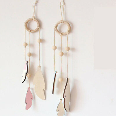Hollow Bedroom Dreamcatcher Window Wood Chips Hanging Accessories Wind Chimes FI • 3.36£