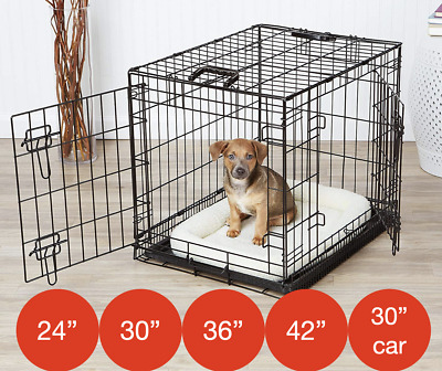 £39.95 • Buy Folding Metal Dog Cage By Mr Barker Puppy Training Crates 5 Sizes 24-42 Inch