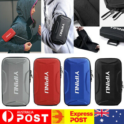 AU13.99 • Buy Universal Sports Running Riding Arm Band Case For Cell Phone Holder Zipper Bag
