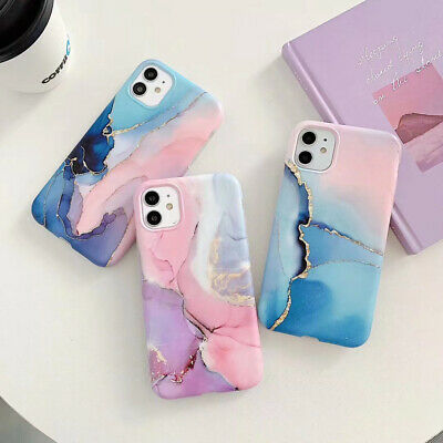 AU8.56 • Buy Marble Case For IPhone 12 Pro Max 11 XR XS SE 8 7 Silicone Slim Watercolor Cover