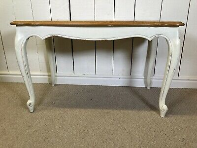 £95 • Buy French Oak Cream Painted Elegant Coffee Table On Cabriole Legs