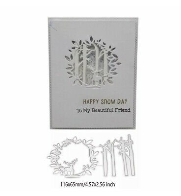 £7.99 • Buy Deer Forest Circle Window Cutting Die For Sizzix / Spellbinder Ect Machines.