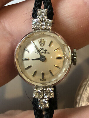 $ CDN2400 • Buy Rare Cocktail Women Rolex Watch. Solid 14kt Gold, And 6 Clear Diamonds.