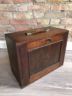 Vintage Engineers Tool Chest/ Cabinet/ Box/ Jewellery Key Clean Collectors Chest • 239£