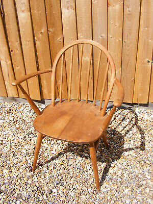 Vintage Ercol Windsor Kitchen Stick Back Dining Armchair Arm Chair Model 370A • 109.99£