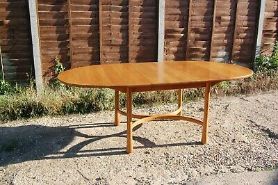 Rare Vintage Retro Mid Century Ercol Oval  Saville  Extending Dining Table • 549.99£