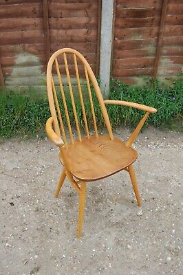 Vintage Ercol 365 A 365A Quaker Windsor Stick Back Dining Armchair Arm Chair • 139.99£