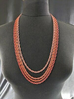 Beautiful Vintage French Rope Four Chain Necklace By Trifari Jewellery • 67£