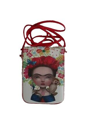 $12.99 • Buy Frida Kahlo Inspired Woman Hipster Bags Wallets    Purses  Clutch HBFK1