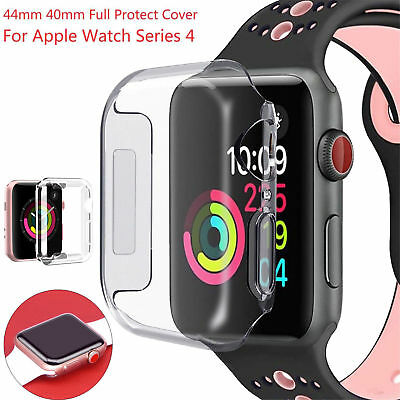 $ CDN8.71 • Buy For Apple Watch Series 4, 40mm FULL SCREEN Clear Soft TPU Protector Cover