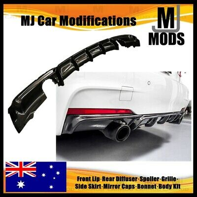 AU530 • Buy Carbon Fibre Rear Bumper Diffuser For BMW【F30 F31 M SPORT】【Twin】340i 335i