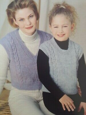 Knitting Pattern For Cropped Tops  26 - 40  (C113) • 2.99£
