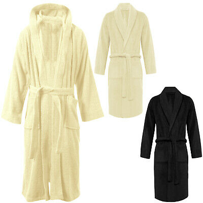 100% Luxury Egyptian Cotton Towelling Bath Robe Unisex Dressing Gown Terry Towel • 8.99£