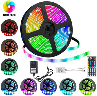 $21.61 • Buy 10M Flexible Strip Light 5050 RGB LED SMD Remote Fairy Lights Room TV Party Bar