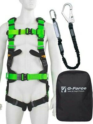 G-Force P52 Premium Scaffolders Height Safety Fall Protection Harness Kit M-XL • 130.38£