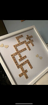 Personalised Scrabble Letter Box Frame Picture • 20£