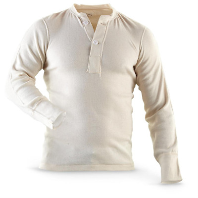 $34.99 • Buy Genuine US Military Issue Thermal Top, Wallace Beery Henley Vintage Thermal