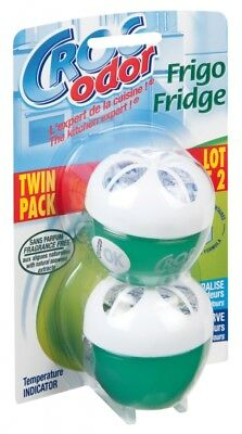 Twin Pack Fridge Fresh Freshener Power Absorbs Bad Odours In Fridge Croc Odor • 5.35£